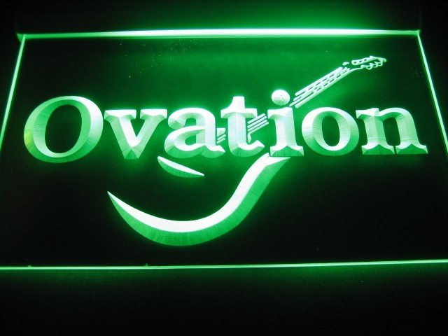 Ovation Logo Beer Bar Pub Store Neon Light Sign