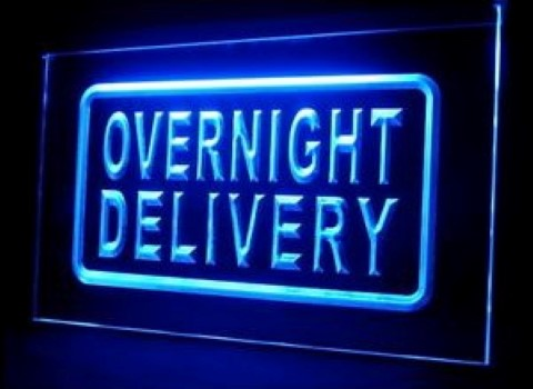 Overnight Delivery 24 Hours LED Neon Sign