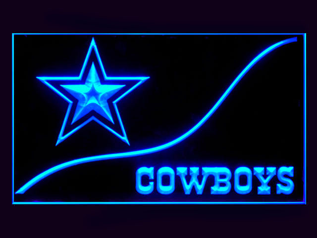 Dallas Cowboys Cool Display Shop Neon Light Sign