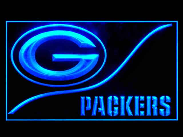 Green Bay Packers Wave Display Shop Neon Light Sign