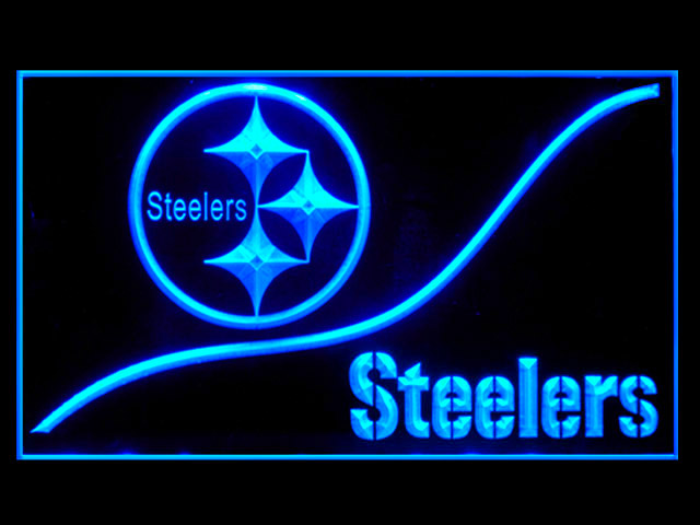 Pittsburgh Steelers Wave Football Shop Neon Light Sign