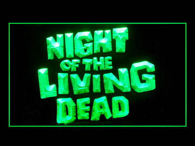 Night of the Living Dead Bar Neon Light Sign