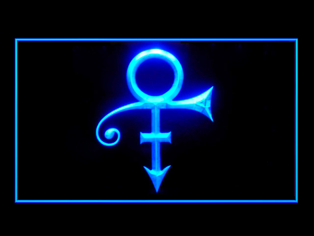 Prince Symbol Display Led Light Sign