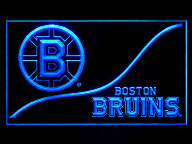 Boston Bruins Wave Script Shop Neon Light Sign