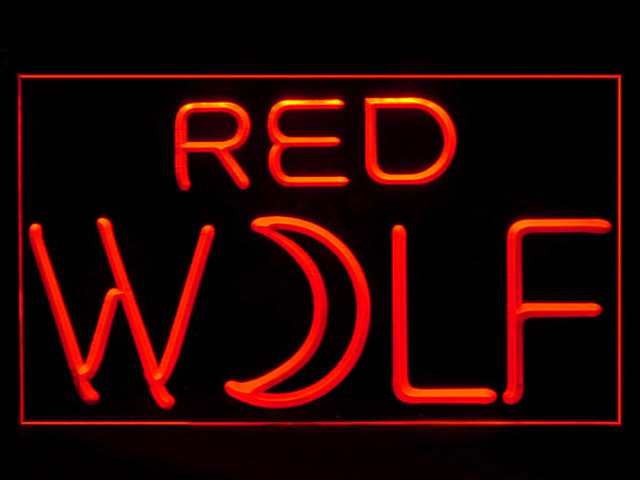 Red Wolf True Blood Beer Bar Display Neon Light Sign