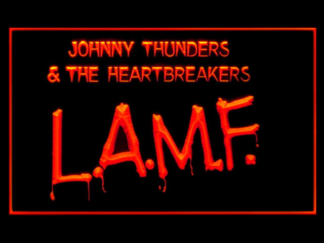 Johnny Thunders Heartbreakers LAMF Display Led Light Sign