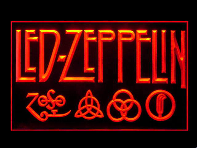 Led Zeppelin Display Led Light Sign