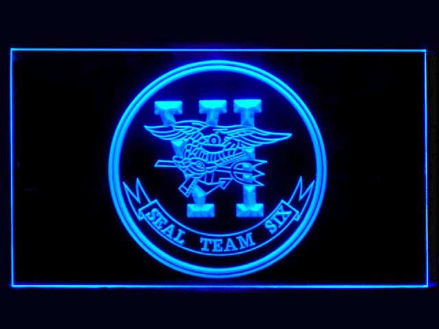 US Navy SEAL Team 6 Six Bar Beer Neon Light Sign