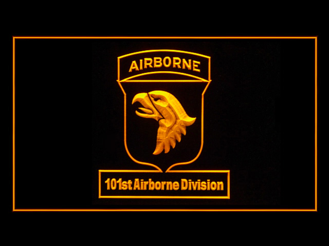 101st Airborne Division Army Bar Beer Neon Light Sign