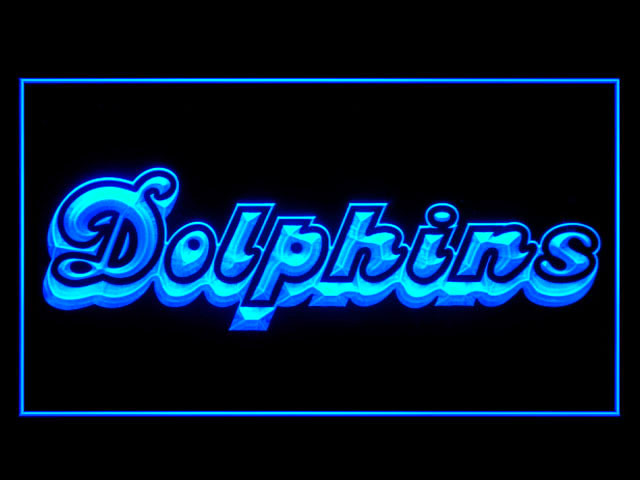Miami Dolphins Script 1980-1996 Display Shop Neon Light Sign