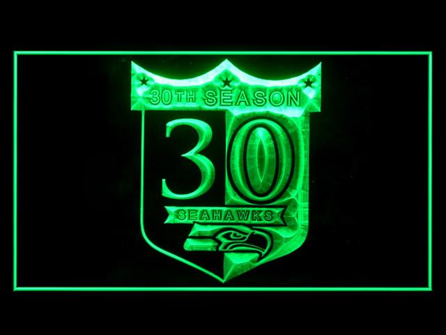 Seattle Seahawk 30th Anniversary Shop Neon Light Sign