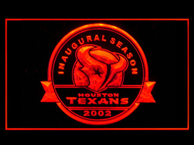 Houston Texans Inaugural Season Display Shop Neon Light Sign