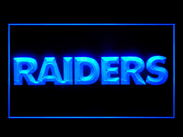 Oakland Raiders Script Display Shop Neon Light Sign