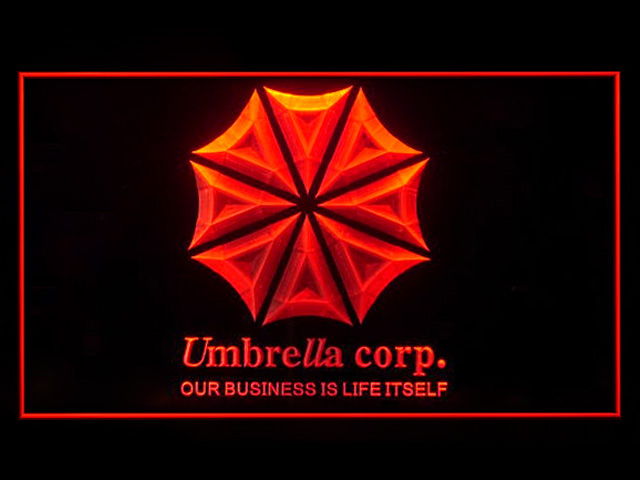 Umbrella Corp Our Business Is Life Itself Neon Light Sign