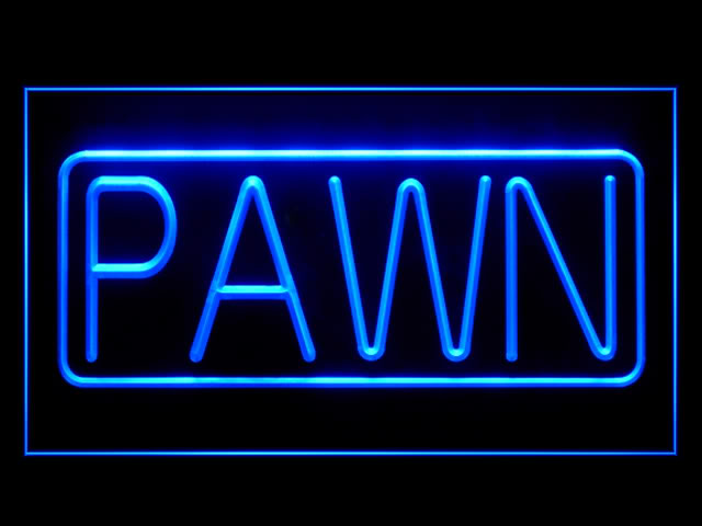 PAWN Shop Gold Jewelry Light Sign