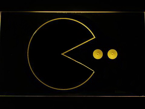 Pac-Man Logo LED Neon Sign