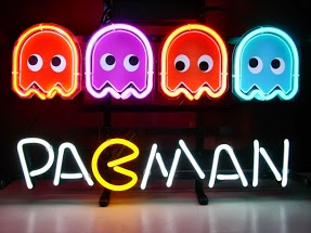 Pacman x 4 Game Room Classic Neon Light Sign 17 x 14