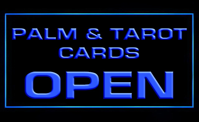 Palm and Tarot Cards LED Neon Sign