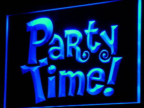 Party Time Beer Bar Pub Club Neon Light Sign