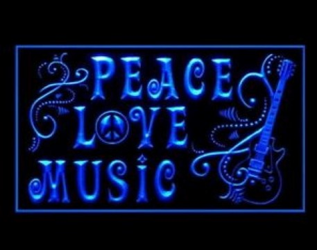 Peace Love Music LED Neon Sign