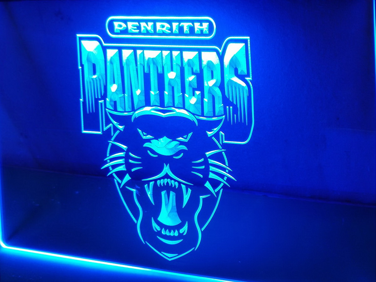 Penrith Panthers LED Neon Flag Sign Large NRL