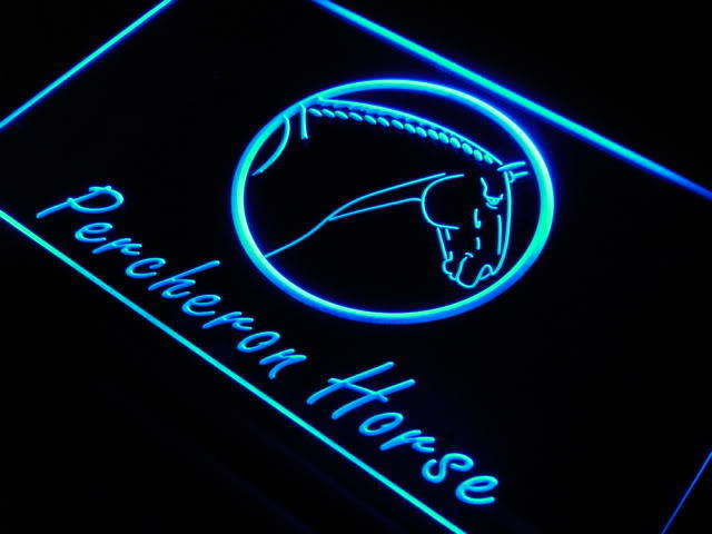 Percheron Horse Model Xmas Gift Neon Light Sign