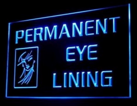 Permanent Eye Lining Eyebrows LED Neon Sign