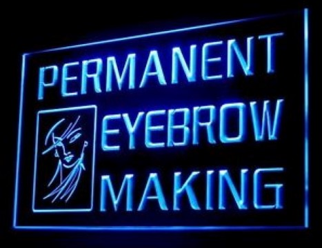 Permanent Eyebrow Making LED Neon Sign