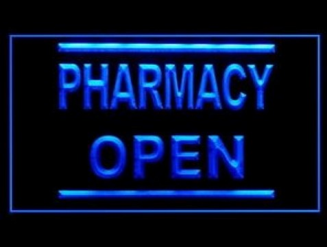 Pharmacy Drug Medicine Prescription LED Neon Sign