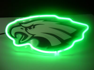 Philadelphia Eagles Green Neon Bar Mancave Sign