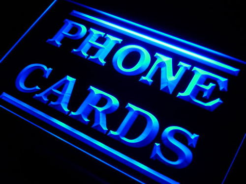 Phone Cards Services Neon Light Sign