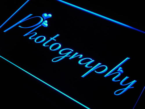 Photography Neon Light Sign