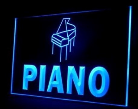 Piano Shop Music LED Neon Sign