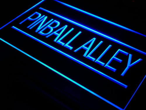Pinball Alley Game Room Bar Neon Light Sign