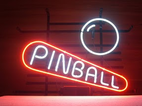 Pinball Red White Classic Neon Light Sign 17 x 14
