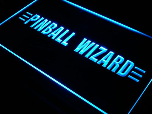 Pinball Wizard Game Shop Lure Neon Light Sign