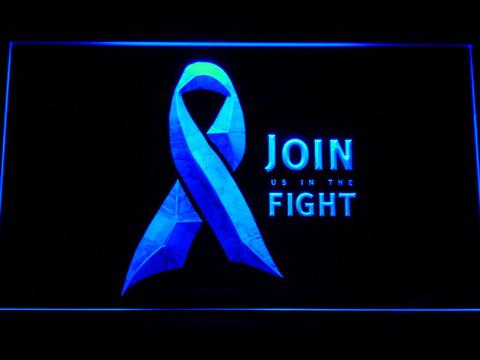 Pink Ribbon Join The Fight LED Neon Sign