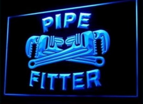 Pipe Fitter Tools Plumber LED Neon Sign