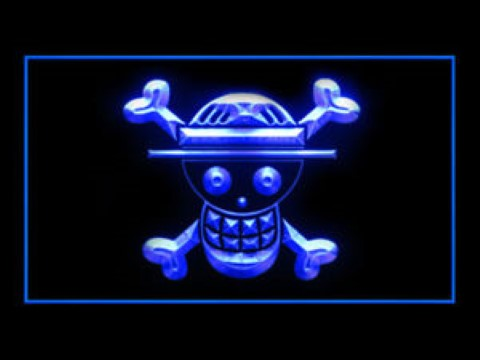 Pirate Flags 4 For Game Room LED Neon Sign
