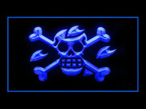 Pirate Flags 7 For Game Room LED Neon Sign