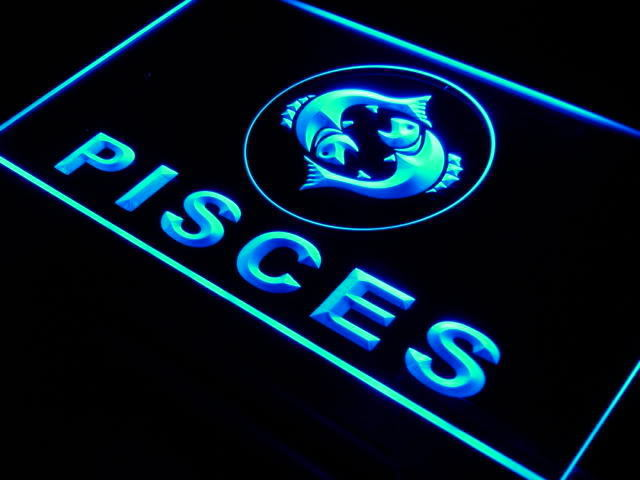 Pisces Zodiac LED Light Sign