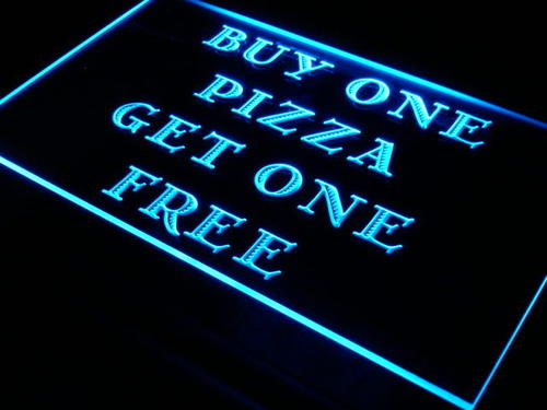 Pizza Buy One Get One Free Cafe Neon Light Sign