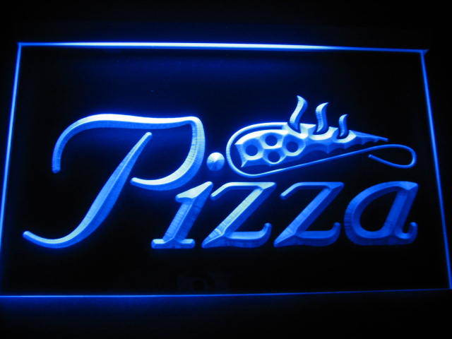 Pizza Logo Beer Pub Store Light Sign Neon