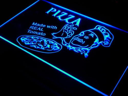 Pizza Made with Real Tomato Neon Light Sign