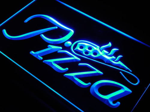 Pizza Shop Slice Shop Display Neon Sign