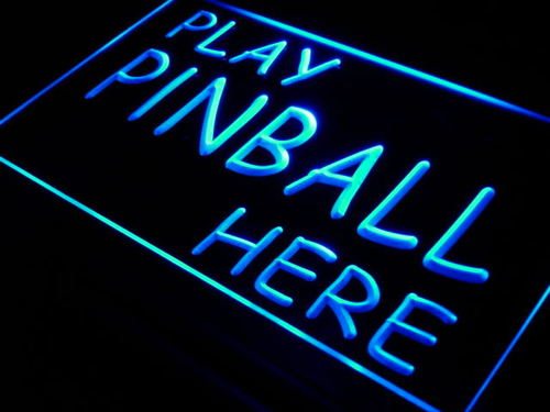Play Pinball Here Game Room Gift Neon Light Sign