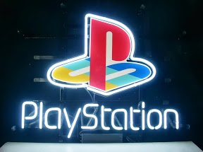 PlayStation Logo Classic Neon Light Sign 17 x 14