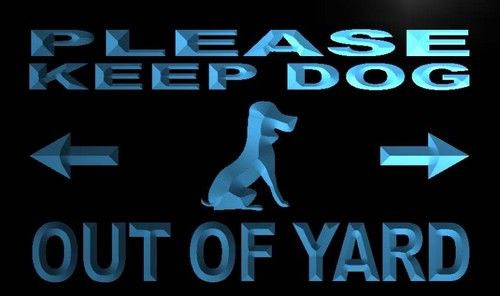 Please Keep Dog out of Yard Neon Light Sign