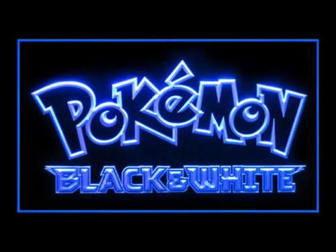 Pokemon Black and White LED Neon Sign