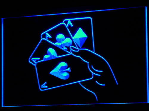 Poker Ace Lucky Beer Bar Neon Light Sign